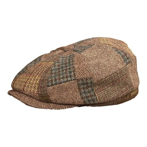 0bbd6f52365 Men's Stetson STW230 Hatteras Patchwork Newsboy Cap - Brown Hats in ...