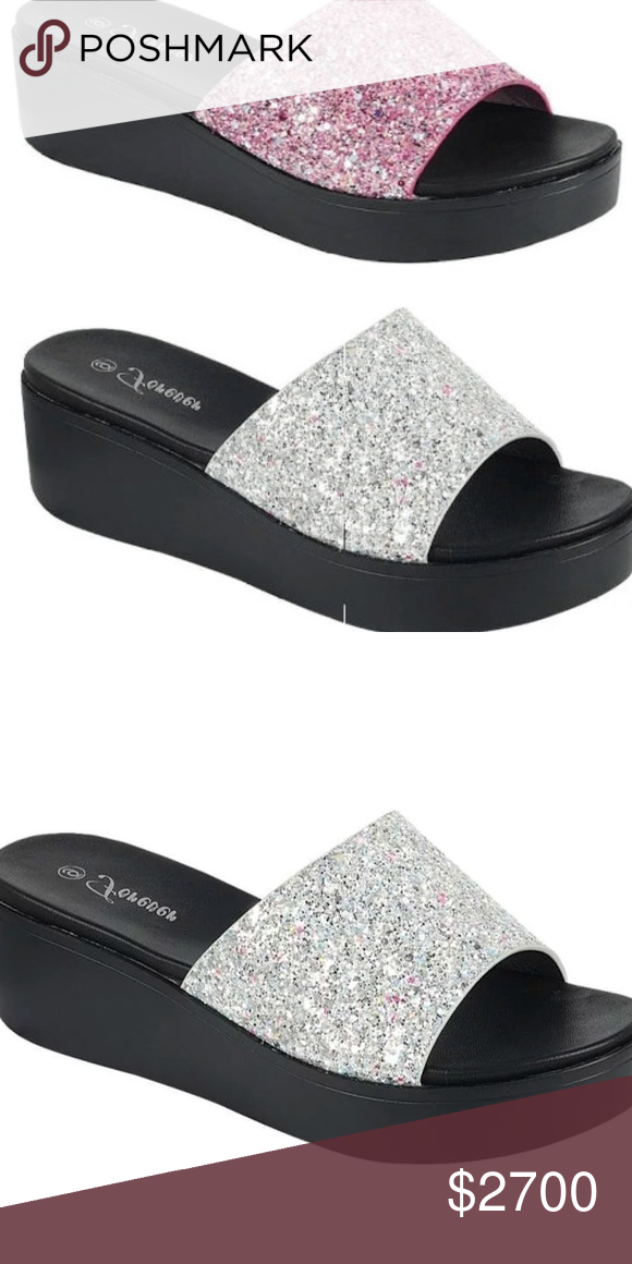 a19f26bb8 New GLITTER SANDALS FLIP FLOPS SHOES SILVER PRICE IS FIRM  NO OFFERS  PLEASE. IF
