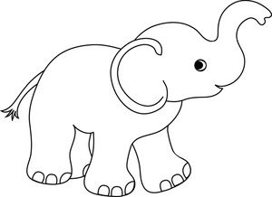 Cute elephant Coloring Pages Do you find the clipart pictures of