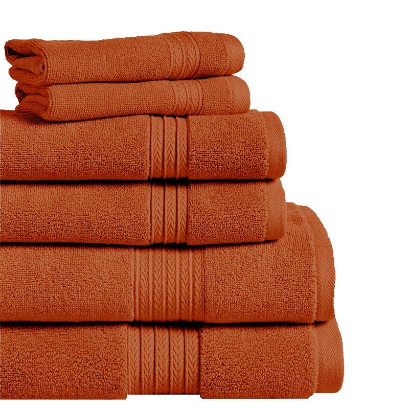 6 Piece 100 Cotton Towel Set Bath Towel Sets Cotton Bath Towels Bath Towels