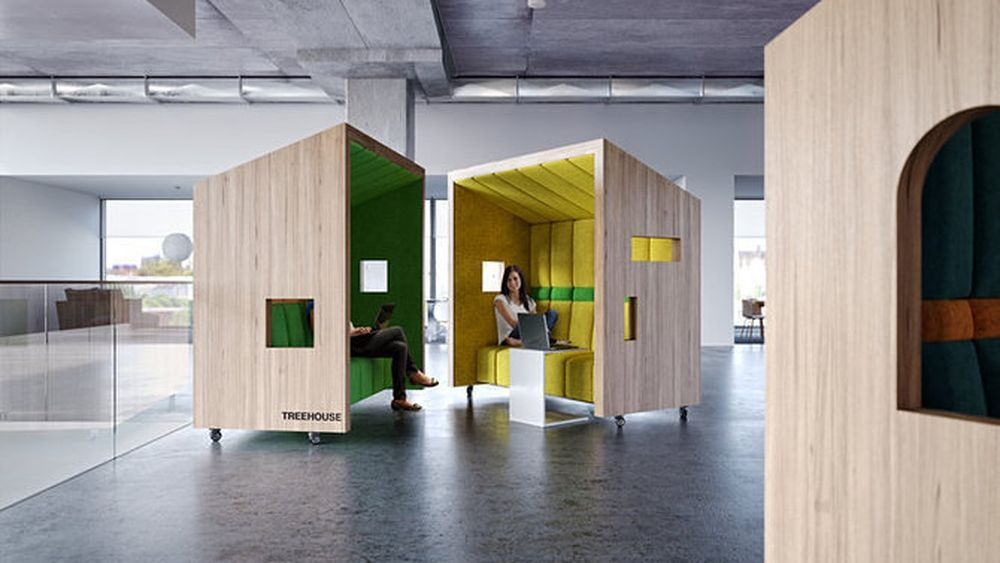 Could movable work pods be the future of offices office