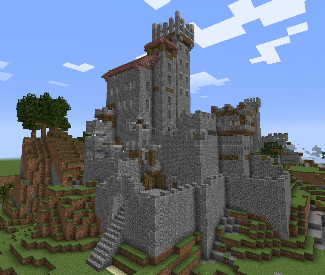 как строить замки в майнкрафте #5
