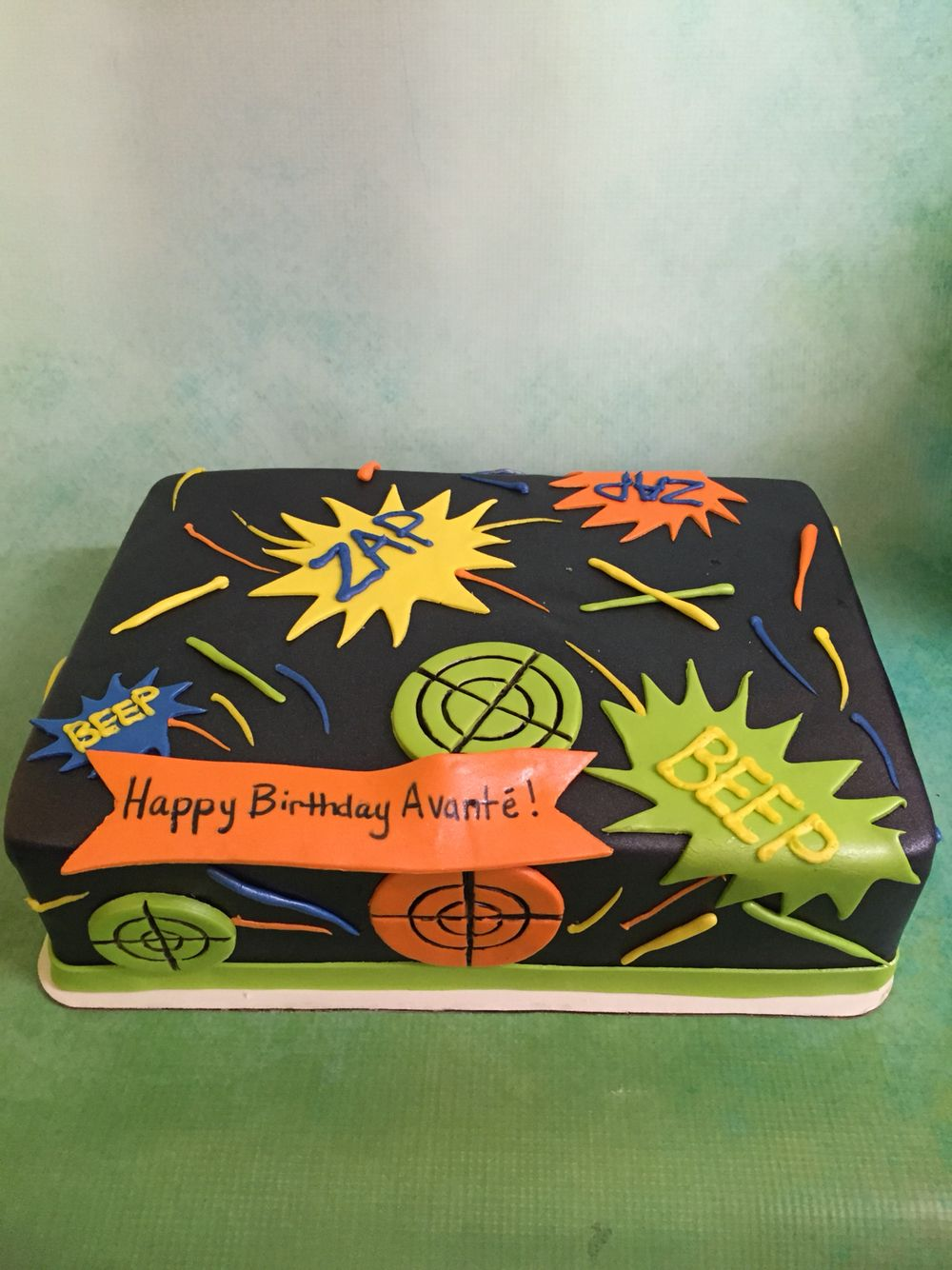 Laser tag cake Midtown Cakes Pinterest Cake Laser tag party