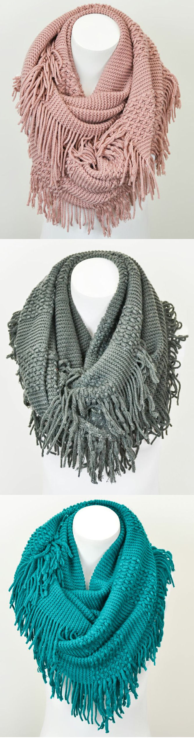 Fun Fringe Infinity Scarves! ♥ | Cute Outfits and Accessories ...