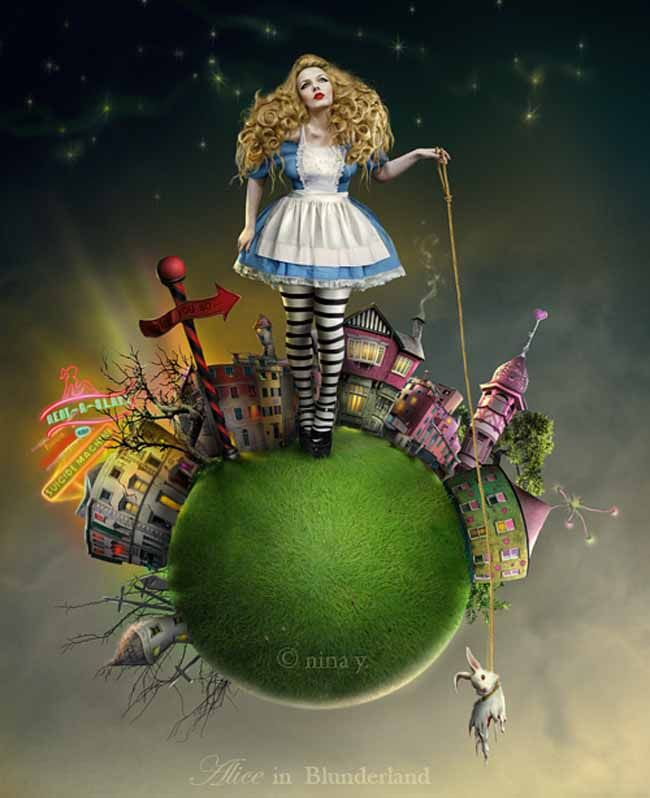 Nina Y.'s Twisted Fairy Tales Mix Fantasy with Surrealism | Alice in wonderland characters, Alice in wonderland, Creative art