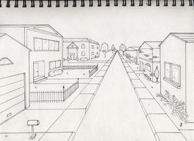 One point perspective exterior by timluv | One point ...