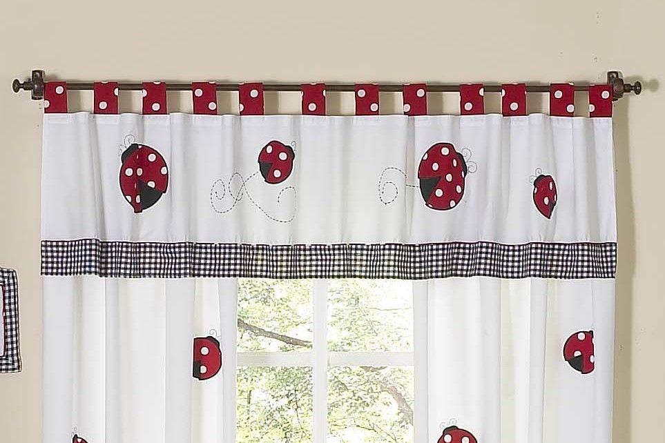 Little Ladybug 84 Window Valance Valance Curtains Valance Sweet Jojo Designs