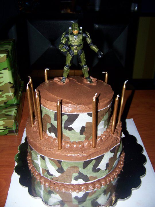 Halo birthday cake hmm maybe for randy Cakes Pinterest