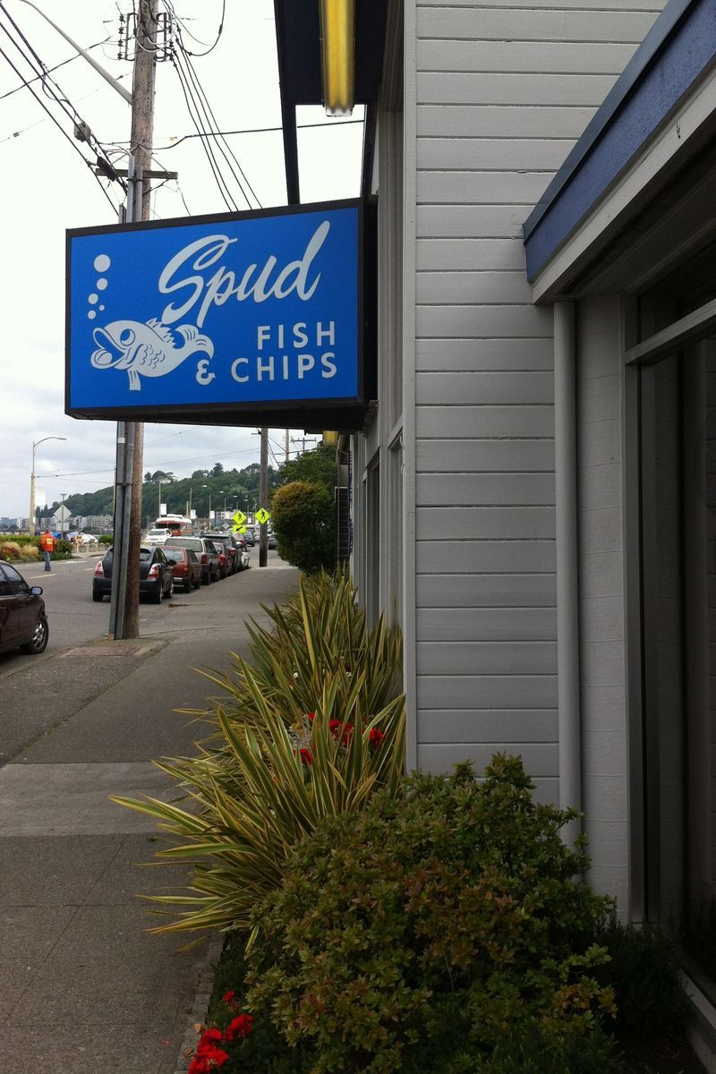 Spuds best fish and chips in seattle on alki beach for Fish and chips ballard