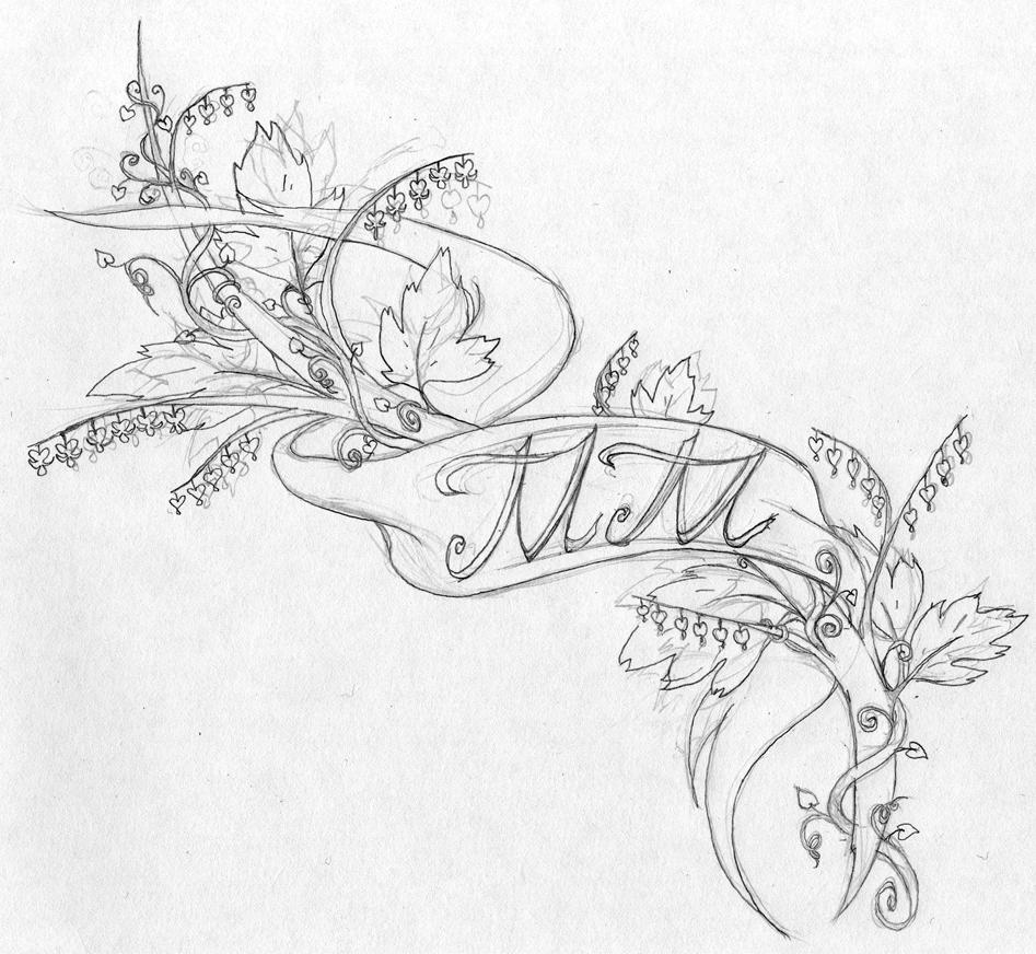 Bleeding Heart Flower Drawing Use Flowers Sketch tattoo