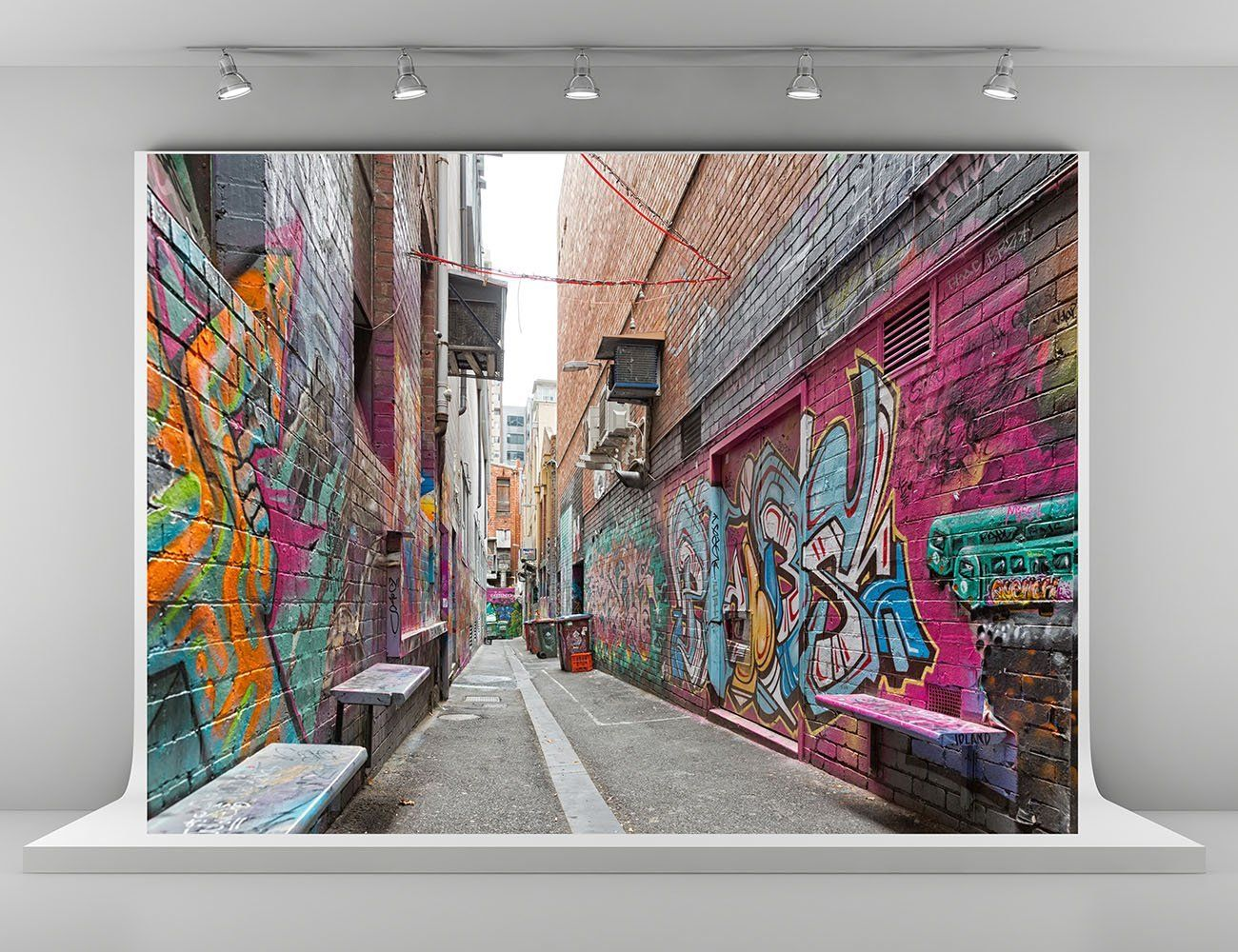 Christmas Graffiti Background.Amazon Com 7x5ft 2 2x1 5m Graffiti Wall Photography
