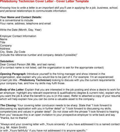 Phlebotomy Cover Letter For Resume  letter  Phlebotomy Cover letter for resume Lettering