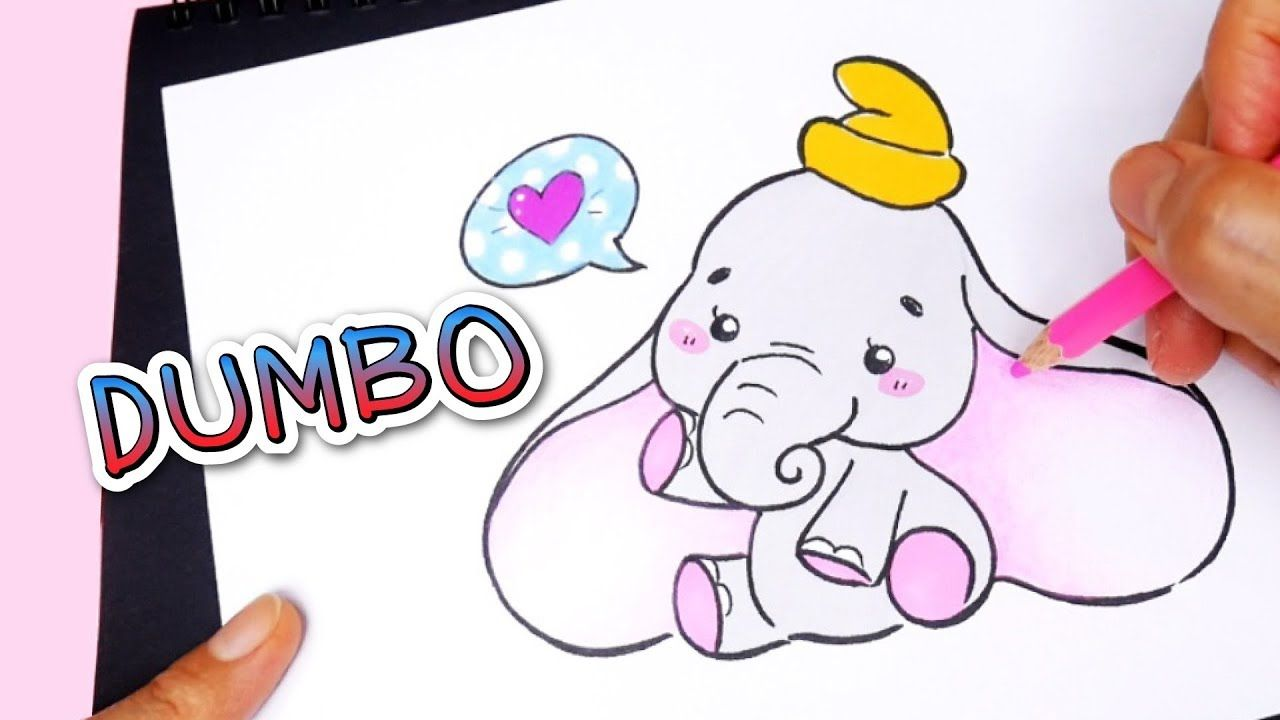 Draw Cute Dumbo ช างน อยด มโบ Easy Elephant สอนวาดร ป Disney สอนวาดร ป ด สน ย ศ ลป น