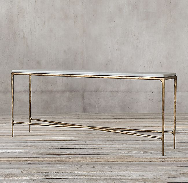 Thaddeus Marble Rectangular Console Table Marble Console
