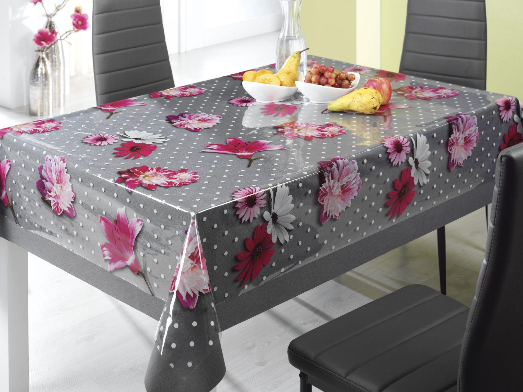 Die Transparente Folie Mit Wunderschonen Bluten Und Punkten Setzt Eure Tischdecke Toll In Szene Die Tischdecke Wird Vor Flecke Tisch Deckchen Und Kuchentucher
