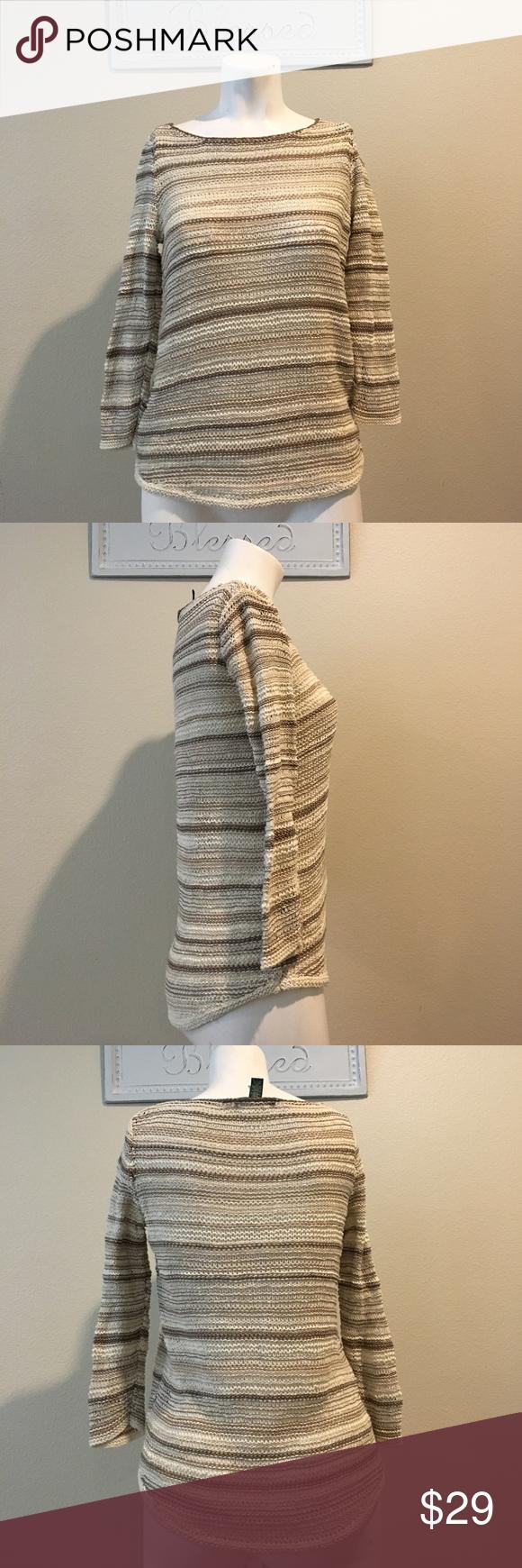 Ralph Lauren sweater size Xs Beige cream Knit loop sweater Nwot Ralph Lauren Sweaters Crew & Scoop Necks