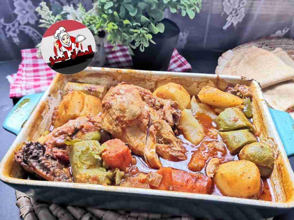 صينية الدجاج مع الخضار بالفرن زاكي Recipe Main Dishes Dishes Chicken