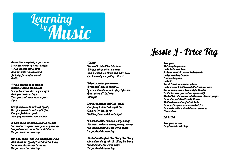 Jessie J Price Tag Jessie J Price Tag Jessie J Lyrics
