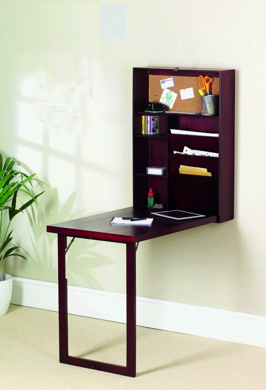 Pull Out Desk and Home Office Wall Mounted Paperwork