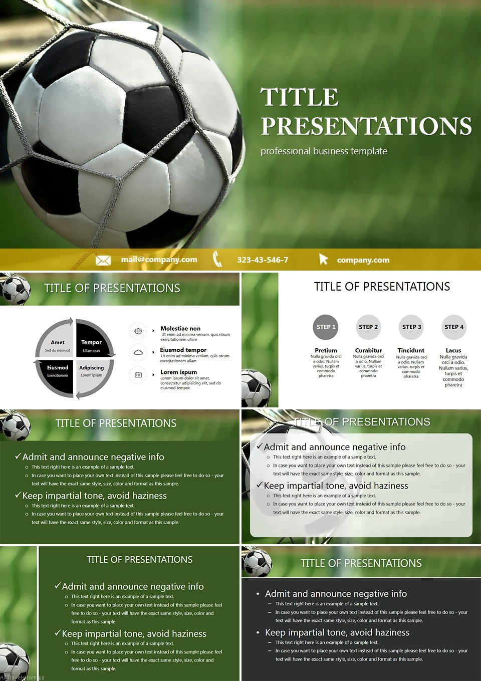 Ball Into The Goal Powerpoint Templates Powerpoint Templates