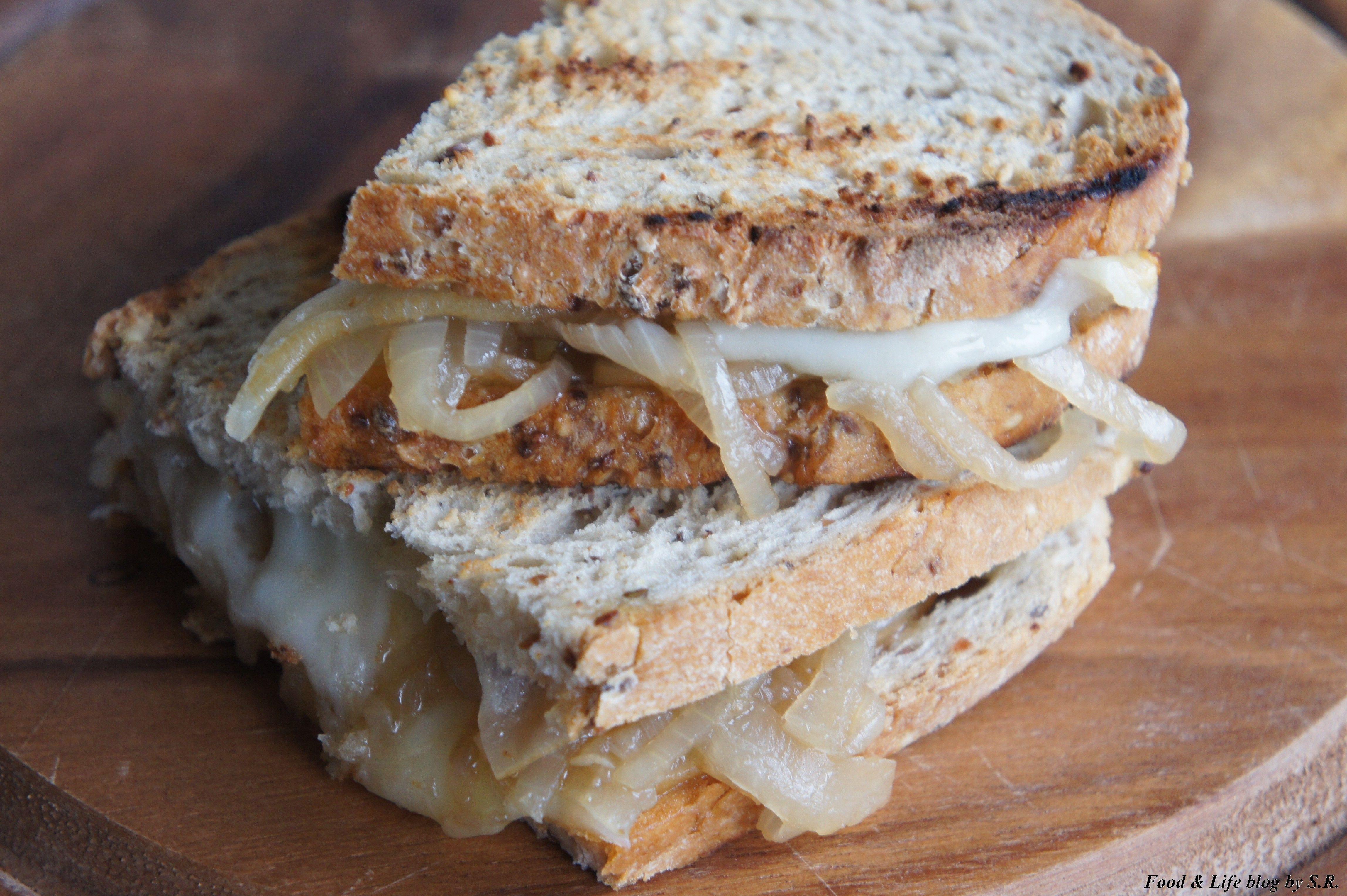 Panino gourmet con formaggio affumicato e cipolle http://wp.me/p3OzLs-3m