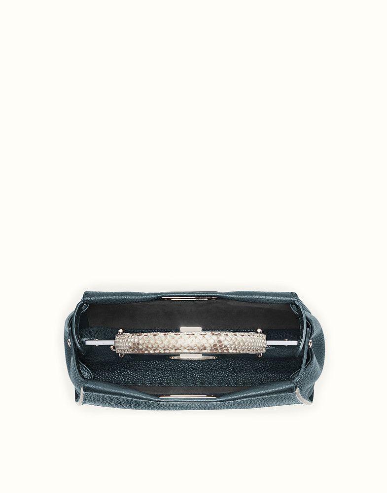 FENDI REGULAR PEEKABOO - Selleria handbag with python details - view 4  detail 1d5850eed1955