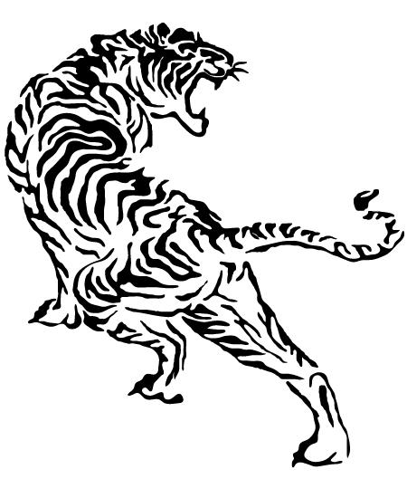 Pin By Uncle Andy On Flash Art Japanese Tiger Tattoo Tiger Tattoo Tiger Drawing