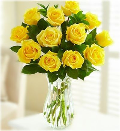 Home Flowers Flower Vases Yellow Roses Vase Beautiful Roses Bouquet Yellow Rose Flower Yellow Roses