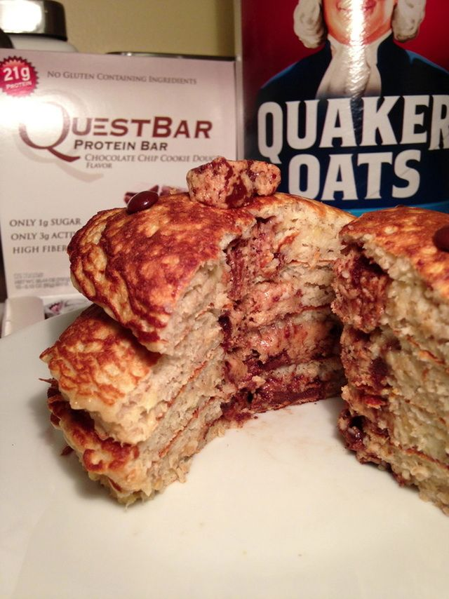 Omg protein pancakes w quest bar cookie dough middlei will be omg protein pancakes w quest bar cookie dough middlei will be making these tomorrow morning ccuart Images