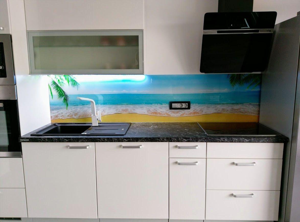 Kitchen Glass Splashback, Kitchen Design Beach Kaljeno staklo za ...