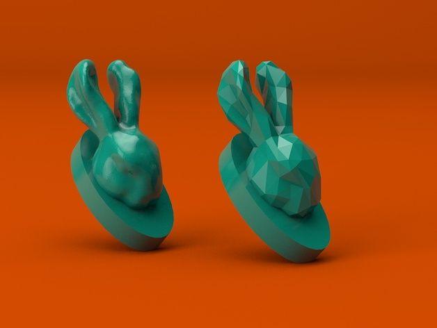 3d Bunny Hooks By Joszczepanska Thingiverse Bunny Hooks