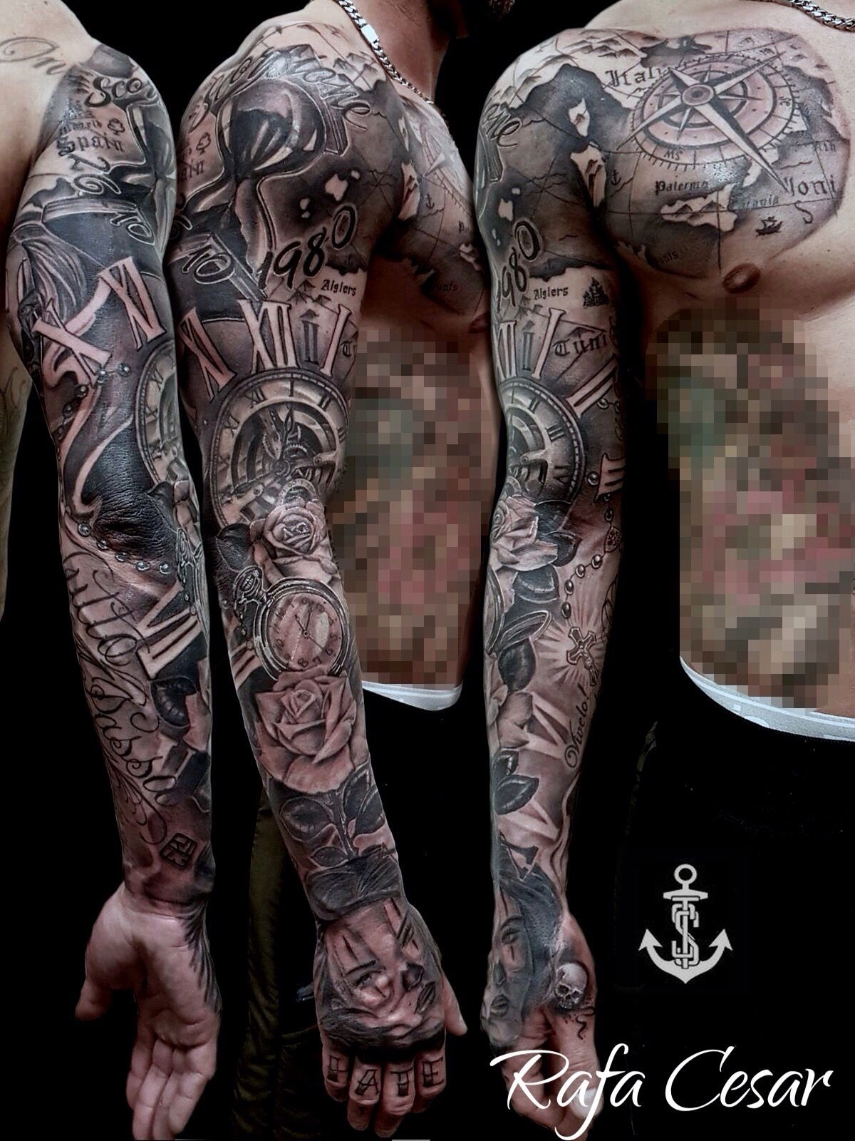 chicano sleeve tattoo tats pinterest tattoo ideen tattoo vorlagen und tattoos f r m nner. Black Bedroom Furniture Sets. Home Design Ideas