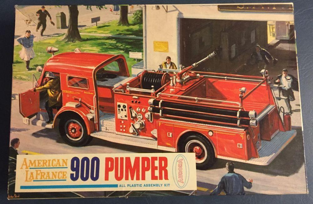 Vintage aurora american lafrance 900 pumper firetruck model kit aurora automotive models kits ebay firetruckmodel publicscrutiny Choice Image