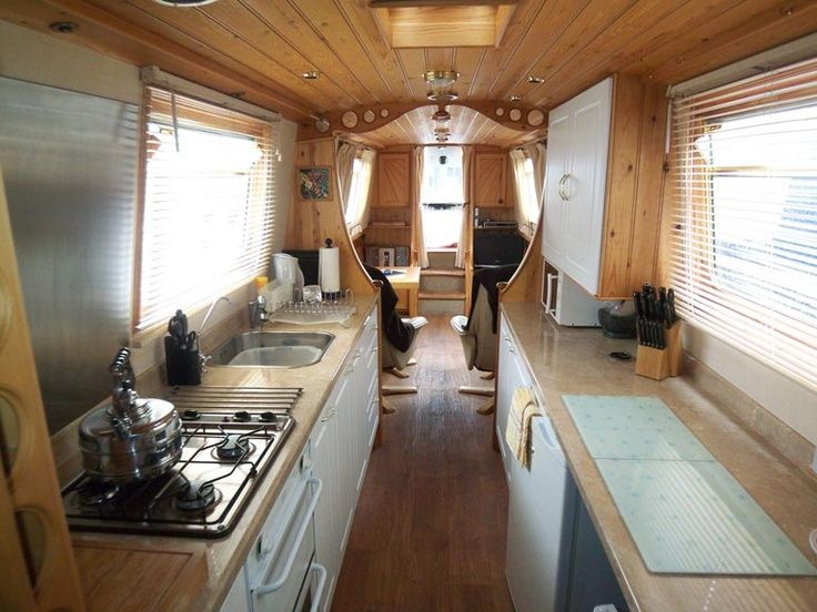 Image result for contemporary narrowboat interiors   Living Small ...