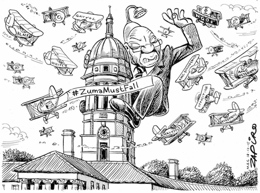 How SAs Top Cartoonist Zapiro Interprets Zumamustfall More Of