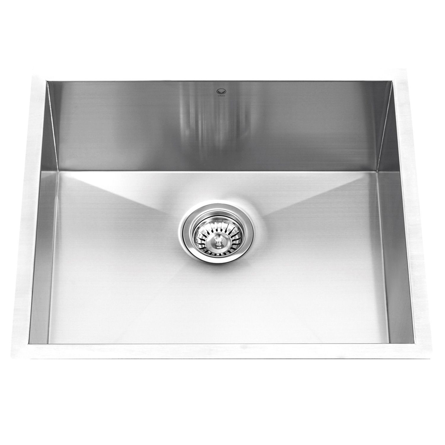 Vigo 23 Undermount Stainless Steel 16 Gauge Single Bowl Kitchen Sink Sam S Cl Single Bowl Kitchen Sink Stainless Steel Kitchen Sink Undermount Kitchen Sinks
