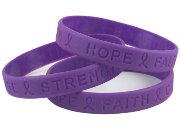 fb5588b3e1d Pancreatic Cancer Purple Awareness Wristbands - available at ...
