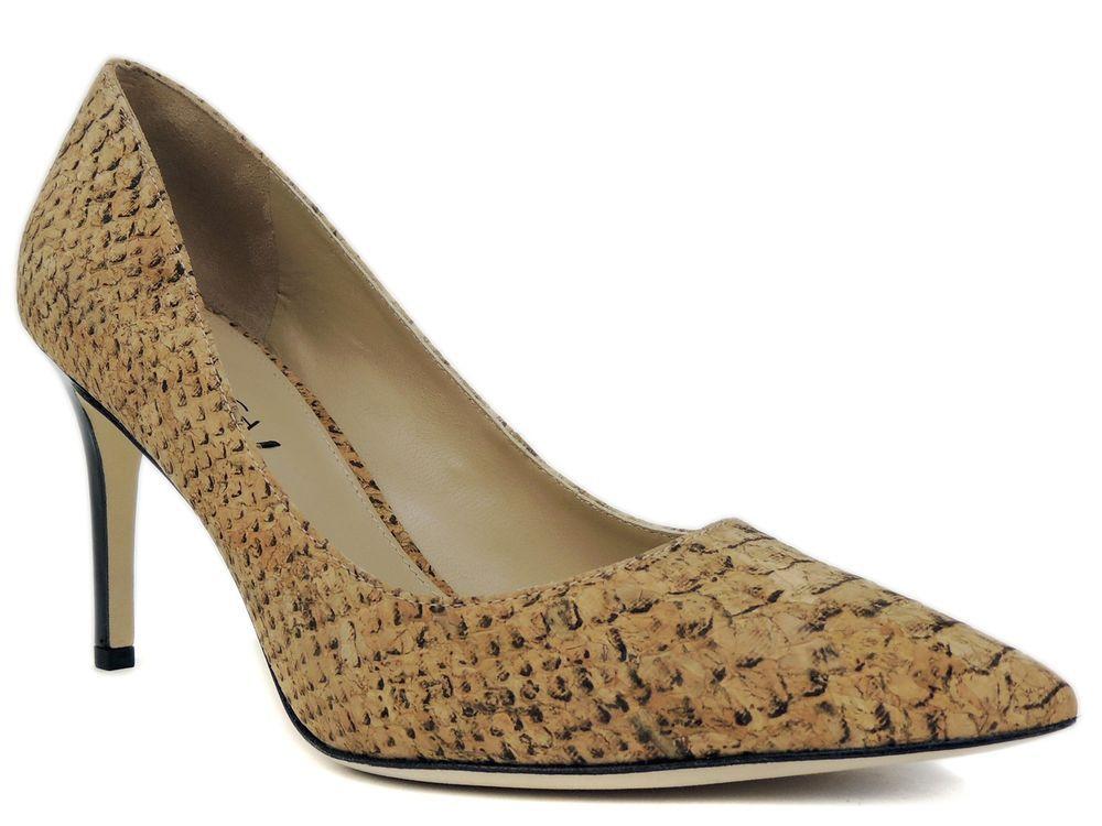 50f1eb37ac28 Via Spiga Women s Carola Dress Pumps Leather Natural Crocodile Print Size  8.5 M  ViaSpiga  PumpsClassics  Dress