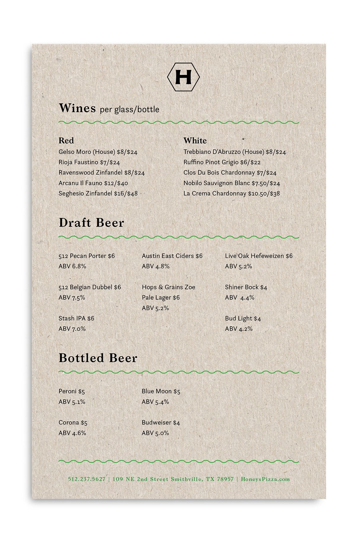 Honeyus paper menus pinterest