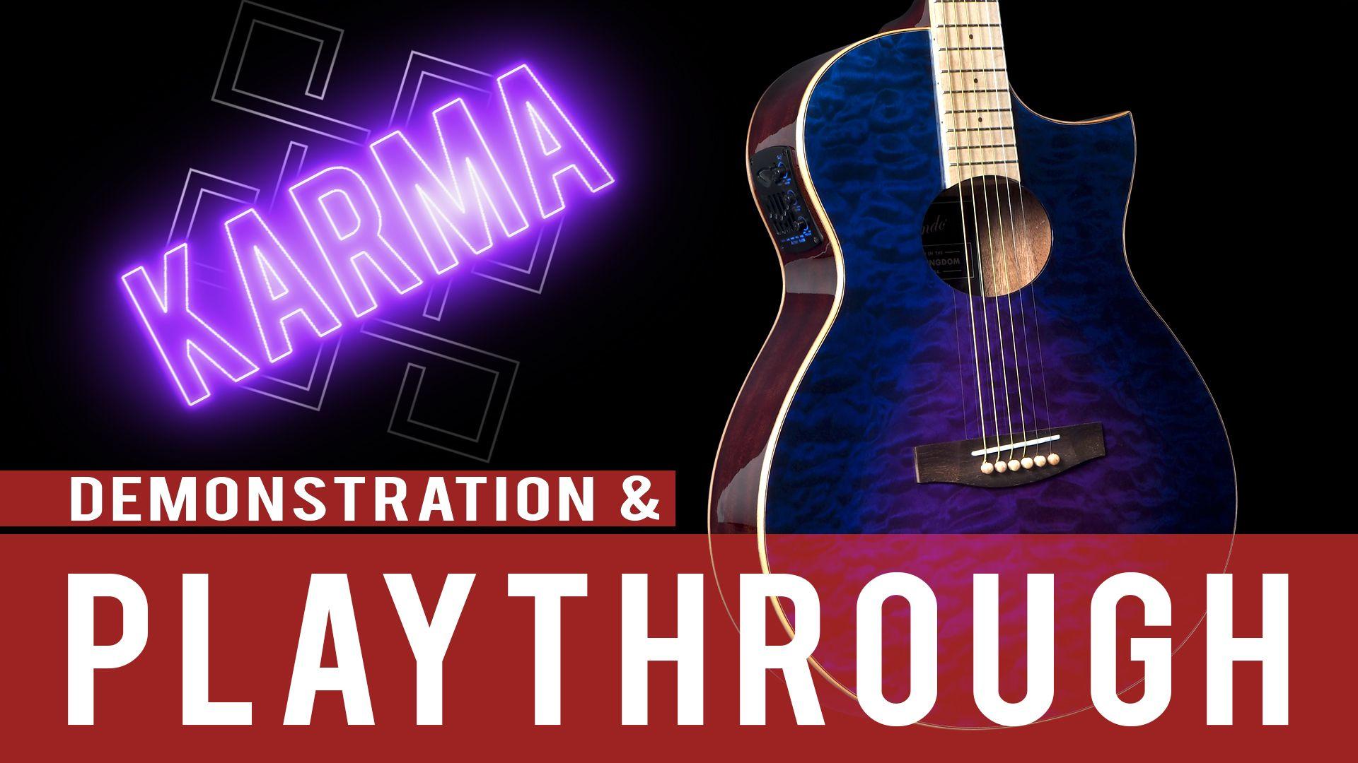 Lindo Karma Slim Body Electro Acoustic Guitar Demonstration Playthrough Electro Acoustic Guitar Guitar Acoustic Guitar