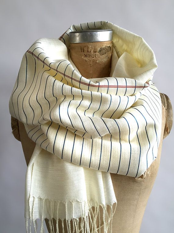 Notebook Paper Print Scarf Lined paper, college ruled linen weave - printable college ruled paper