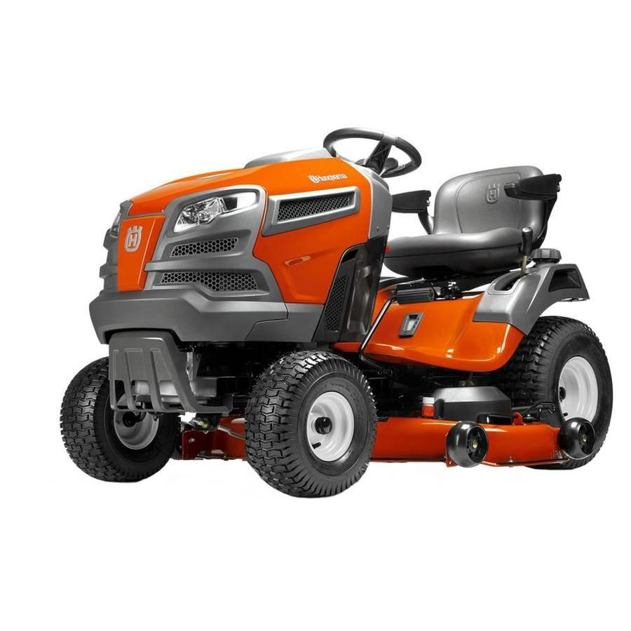 Husqvarna Yta24v48ca 24 Hp V Twin Automatic 48 In Riding Lawn Mower With Mulching Capability Kit Sold Separately Carb Lowes Com Lawn Mower Riding Lawn Mowers Tractor Mower