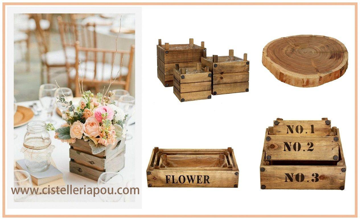 Cajas y bases de madera al mayor centros de mesa nupcial for Centros de mesa de madera