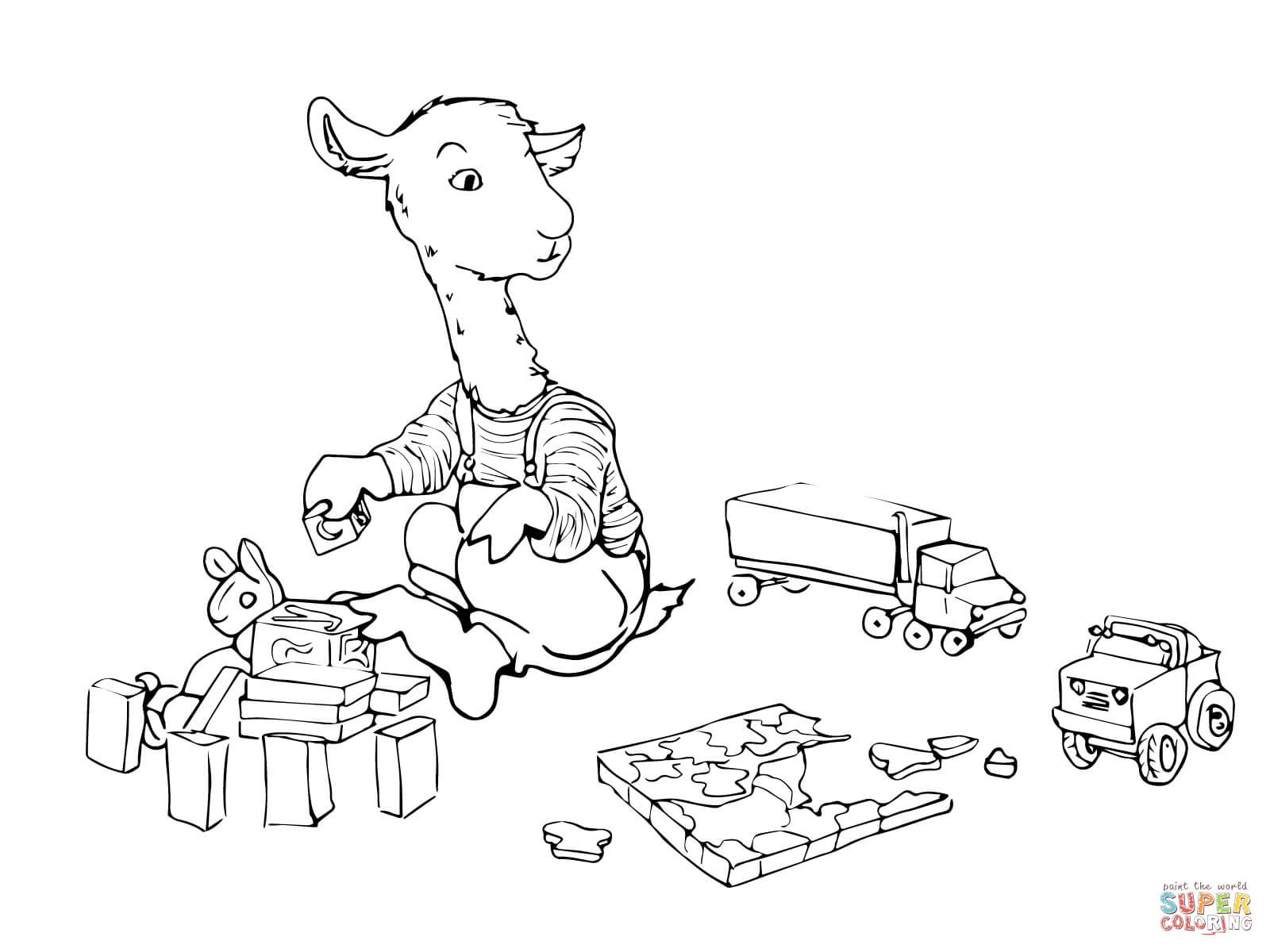 Llamas In Peru Page Coloring Pages