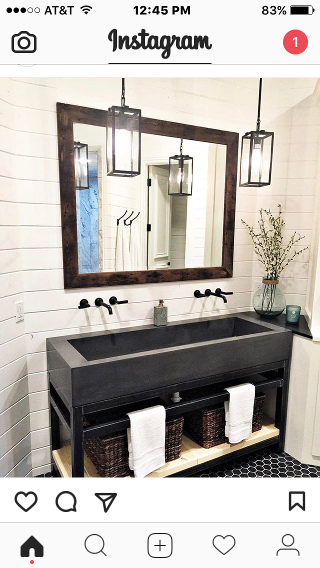 Trough Sink With Wall Mounted Faucets Vanity Design With Images