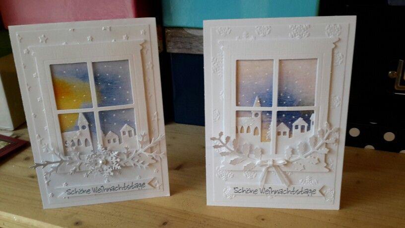 Weihnachtskarte mit Fenster