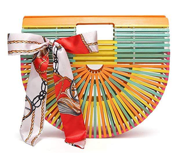 Obosoyo Women's Handmade Bamboo Handbag Summer Beach Sea Tote Bag – Blogging ERA