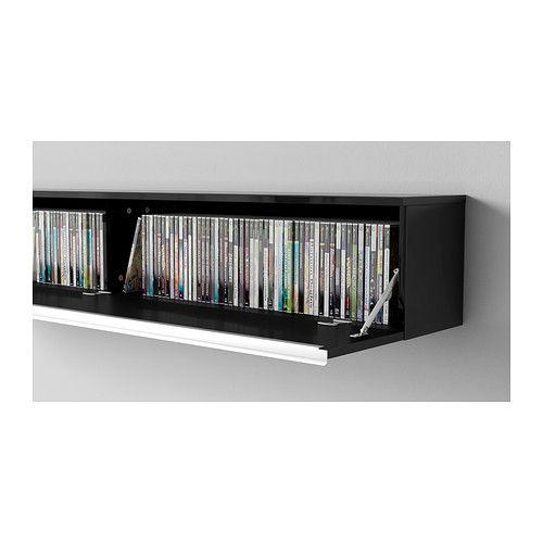 Best burs wall shelf high gloss black ikea great - Etagere murale pour dvd ...