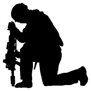 praying soldier silhouette