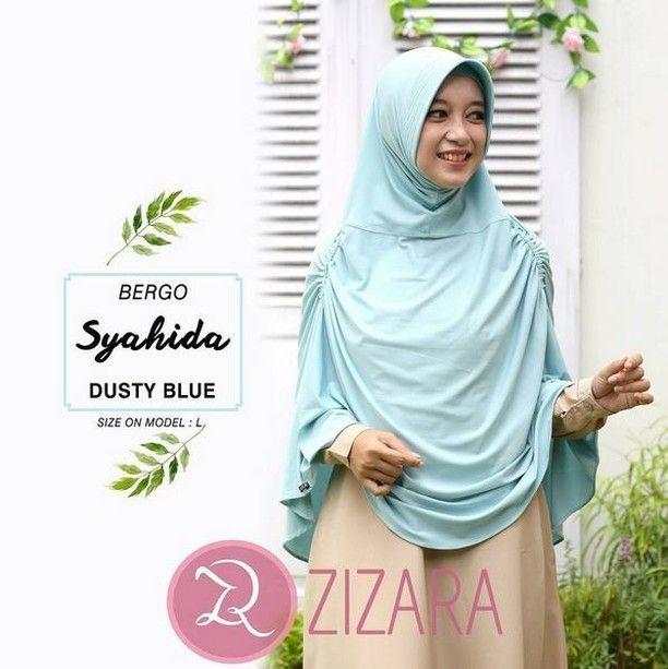 Khimar Zizara Bergo Syahida Dusty Blue Hijab Kerudung Khimar Jilbab Syari Kini Hadir Untukmu Yang Cantik Syari Dan Trendy Bahan Ity Jersey Baju Kurung